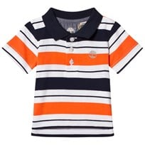 Timberland Red and Navy Stripe Logo Polo 420