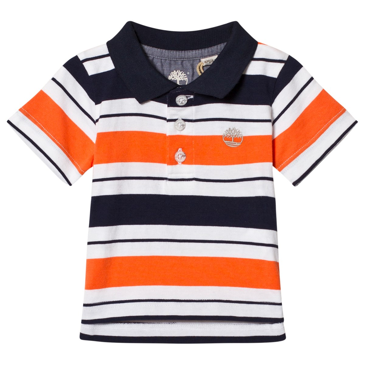 18c78d9588bf Timberland Red and Navy Stripe Logo Polo 420