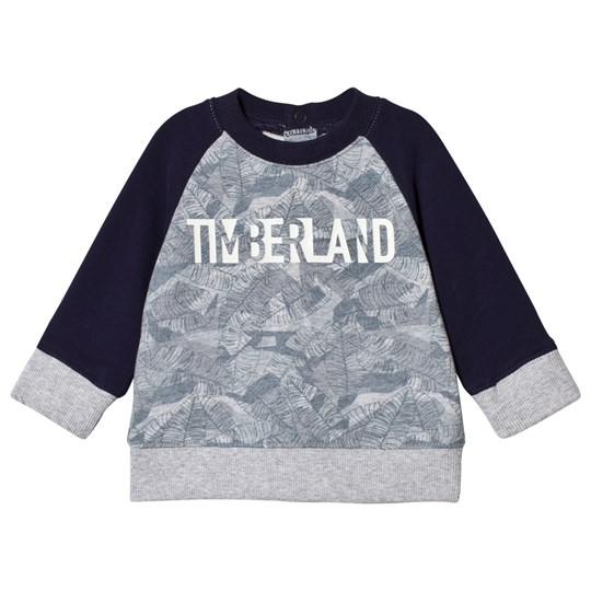 Timberland Leaf Branded Sweatshirt Navy and Grey A32