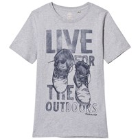 Timberland Grey Boots Print Tee A32