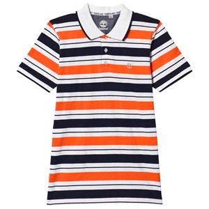 Timberland Orange and Navy Stripe Polo 16 years