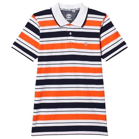 Timberland Orange and Navy Stripe Polo 420