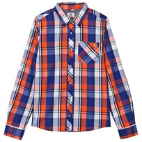 Timberland Blue and Orange Check Shirt 420