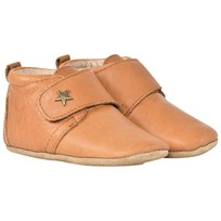 Bisgaard Velcro Shoe Star Cognac BROWN