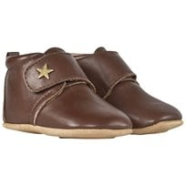 Bisgaard Velcro Shoe Star Brown Brown