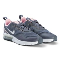NIKE Grey and White Nike Air Max Running Shoes 001