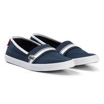 Lacoste Navy and White Marice Junior Slip On Shoes Navy/White