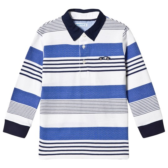 Mayoral Navy and Blue Stripe Polo 50