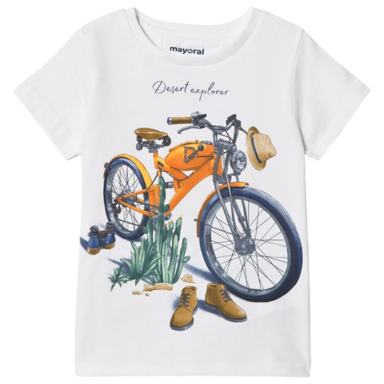 Mayoral White Motor Cycle Print Tee 20