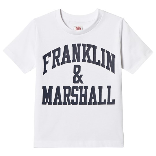 Franklin & Marshall White CF Logo Tee Bright White