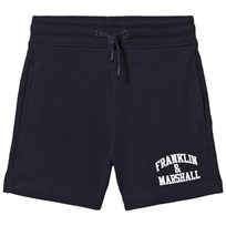 Franklin & Marshall Navy Badge Logo Sweat Shorts Navy