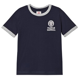 Image of Franklin & Marshall Navy Retro Logo Ringer Tee 14-15 years (1050157)