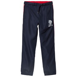 Franklin & Marshall Navy and Red Side Stripe Popper Track Bottoms