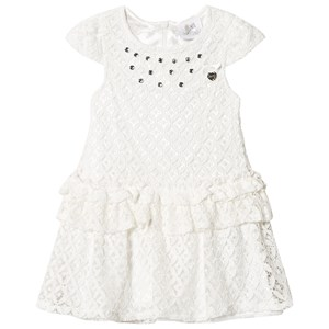 Image of Le Chic White Crochet Lace Party Dress with Jewel Detail 164 (13-14 years) (2943827627)