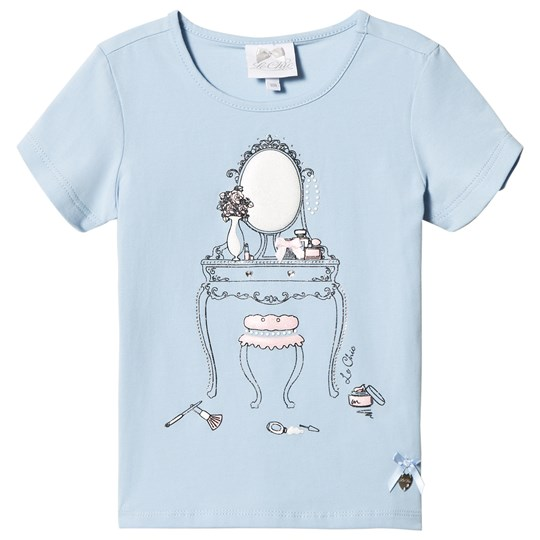 Le Chic Blue Glitter Dressing Table Print Tee 113