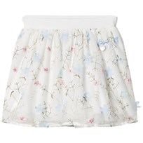 Le Chic Off-white Flora lEmbroidered and Applique Tulle Skirt 113
