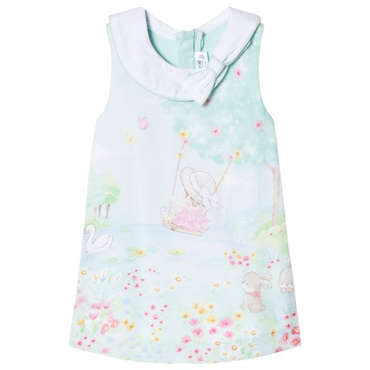 Mayoral Bunny and Woodland Scene Print Sleeveless Dress 36