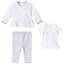 Mayoral White Bunny Top, Grey Leggings and Zip Jersey Jacket Set 29