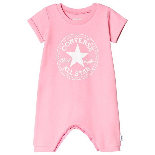 Converse Pink and White Logo Romper PINK GLOW
