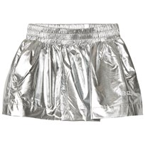 Kenzo Silver Reflective Branded Skirt 18