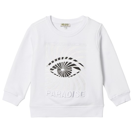 Kenzo White Eye Print and Embroidered Paradise Sweatshirt 01