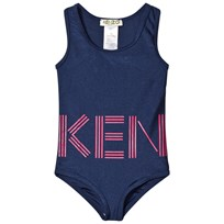 Kenzo Navy and Pink Logo Swimsuit 49