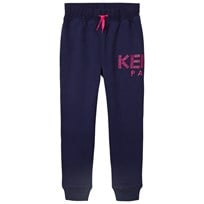 Kenzo Navy and Pink Logo Sweatpants 49