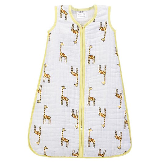 Aden + Anais Giraffe Print Multi Layer Cozy Sleeping Bag Jungle Jam - Giraffe