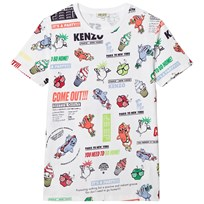 Kenzo White Multi Food Fiesta Branded Tee 01
