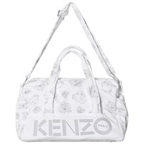 Kenzo White and Grey Tiger Print Changing Bag and Mat 210
