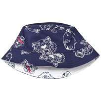 Kenzo Navy Multi Tiger Reversible into White Bucket Hat 49