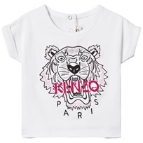 Kenzo White Tiger Embroidered Tee 01