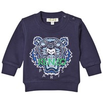 Kenzo Navy Tiger Embroidered Sweatshirt 49