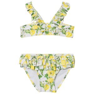Image of Mayoral Yellow Tulip Print Ruffle Bikini 2 years (2945016551)