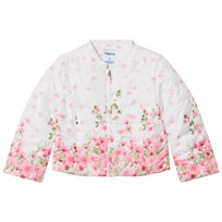Mayoral White Rose Printed Padded Jacket 34