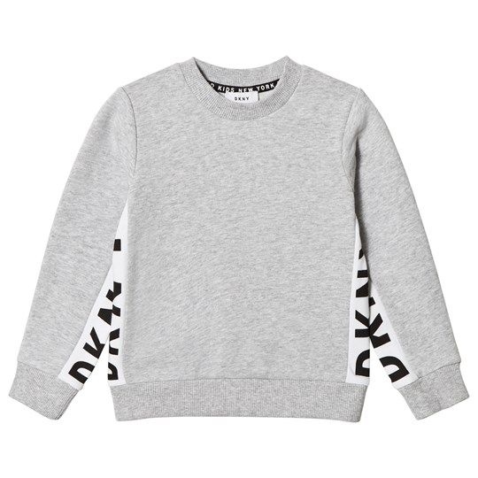 DKNY Grey Side Branded Sweater A32