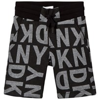 DKNY Black All Over Branded Sweat Short M52