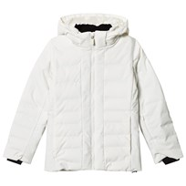 Fusalp White Backcountry Hooded Jacket 920 Poudre