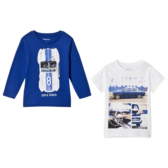 Mayoral Set of Monaco Two Tees White and Blue 10