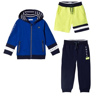 Image of Mayoral 3-Piece Set in Blue, Navy and Lime 6 years (2945013041)