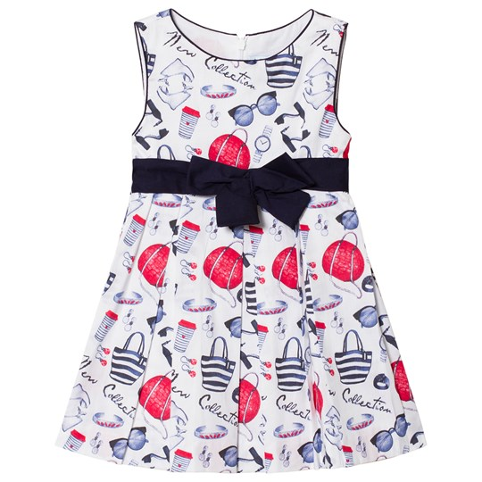 Mayoral Navy Printed Bow Dress 45