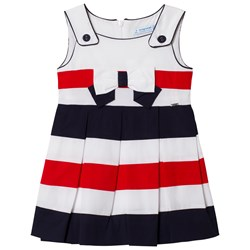 Mayoral Multi Stripe Sailor Poplin Dress