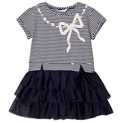 Mayoral Tulle Skirted Dress Navy