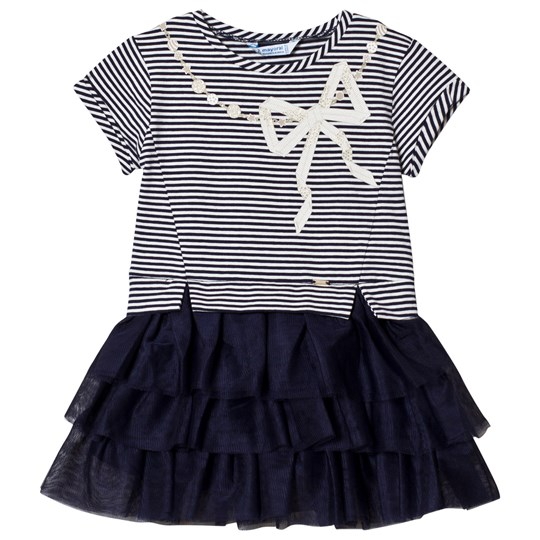 Mayoral Tulle Skirted Dress Navy 40
