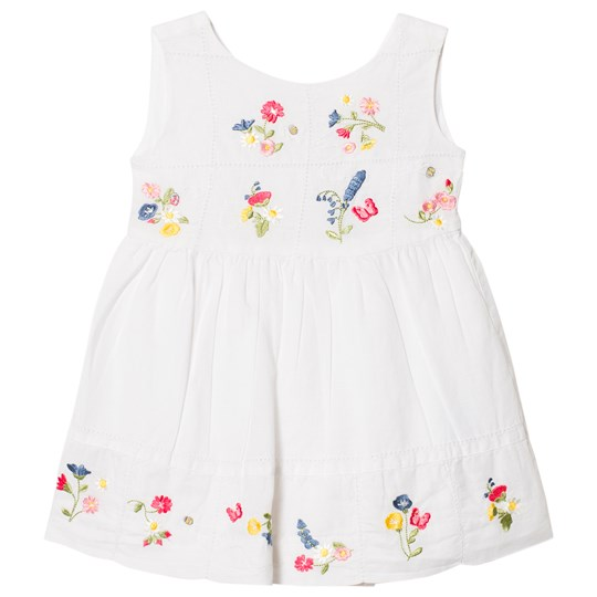 Mayoral White Linen Embroidered Dress 48
