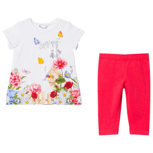 Mayoral Floral Diamante T-shirt och Leggings Set 92