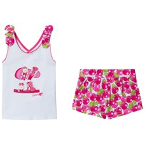 Mayoral Fuchsia Glitter Set of Shorts and a Tank Top 31