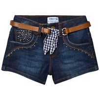 Mayoral Dark Denim Shorts with Belt 82