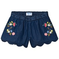 Mayoral Denim Embroidered Shorts 5