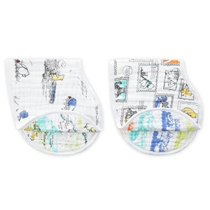 Image of Aden + Anais 2-Pack Winnie the Pooh Classic Burpy Bibs (2919325803)